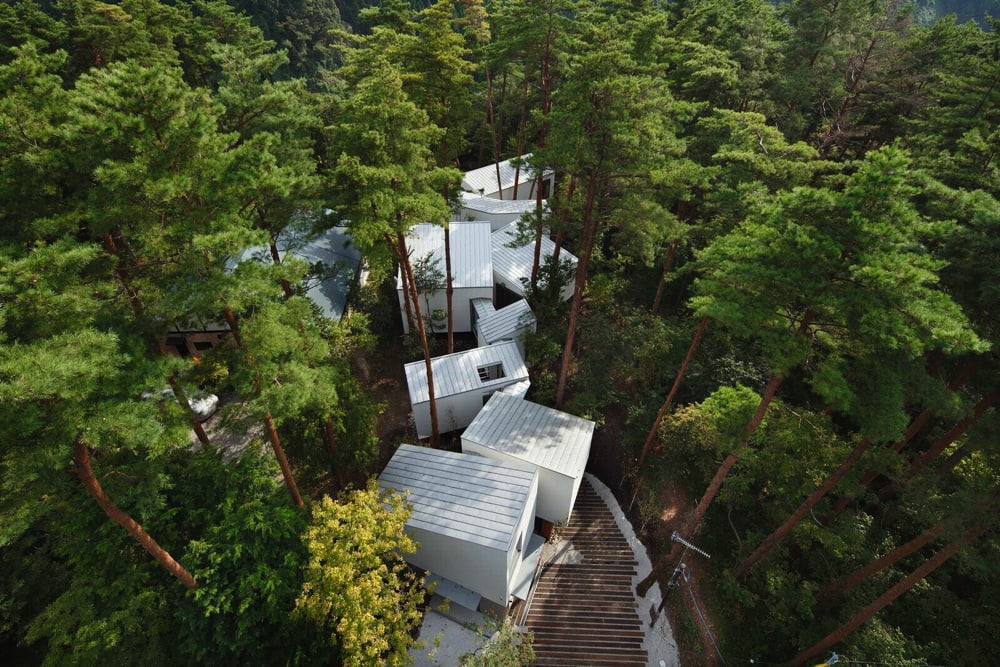 Residence in Daisen [The Aperture in the Forest]